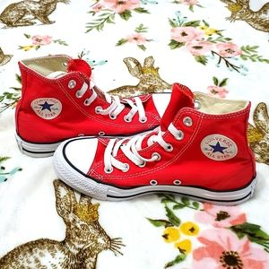 CONVERSE|| Red High-Top Sneakers